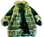 Двухцветная норковая шубка